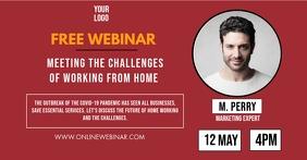 Online Free Webinar Invitation Promo Image Ad template