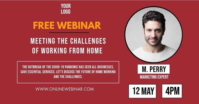 Online Free Webinar Invitation Promo Image Ad Facebook Advertensie template