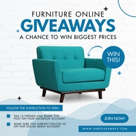 Online Furniture Giveaway Instagram 帖子 template