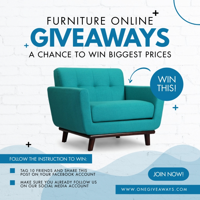Online Furniture Giveaway Instagram Post template