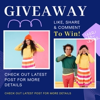 Online Giveaway Blue Instagram Post Template Instagram-Beitrag
