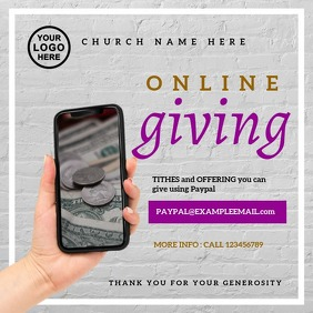 Online Giving Church Instagram Post