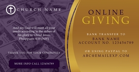 Online Giving Church tithe and offering Facebook Shared Image template