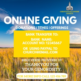 ONLINE GIVING POSTER TEMPLATE