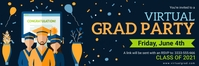 Online grad party invitation banner template
