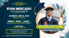 Online Grad Party Invitation Digital Display Digitalanzeige (16:9) template