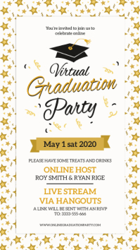 Online grad party invite digital display template