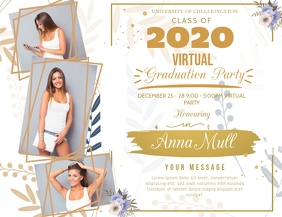 Online Grad Party Invite Flyer