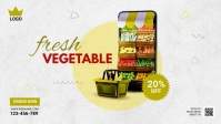 Online Grocery Delivery Ad template