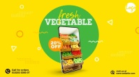 Online Grocery Delivery Ad Twitter Post template