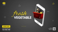 Online Grocery Delivery Ad YouTube Thumbnail template