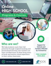 Online High School Classes Green Flyer template