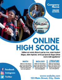 online high school flyer brochure design temp