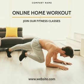 online home workout instagram post online adv template