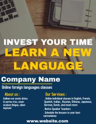 Online languages class flyer