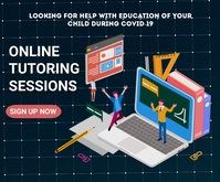 Online learning,event,educational Mellemstort rektangel template