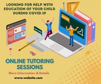 Online learning,event,educational Persegi Panjang Besar template