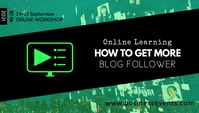 Online Learning Course Sales Marketing ad Blog Header template