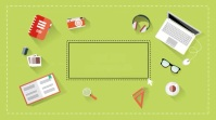 Online learning video template Ekran reklamowy (16:9)