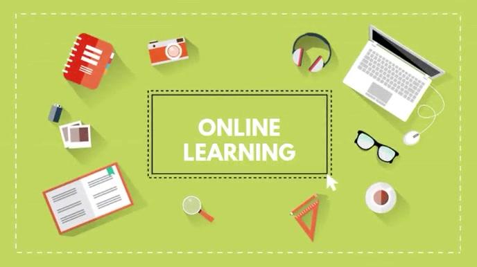Online learning video template Digital Display (16:9)