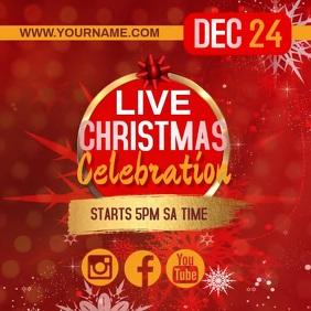 ONLINE LIVE CHRISTMAS CELEBRATION TEMPLATE Square (1:1)