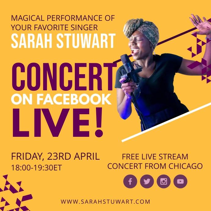 Online Live Concert Post สี่เหลี่ยมจัตุรัส (1:1) template
