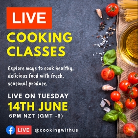 Online Live Cooking Sessions Post