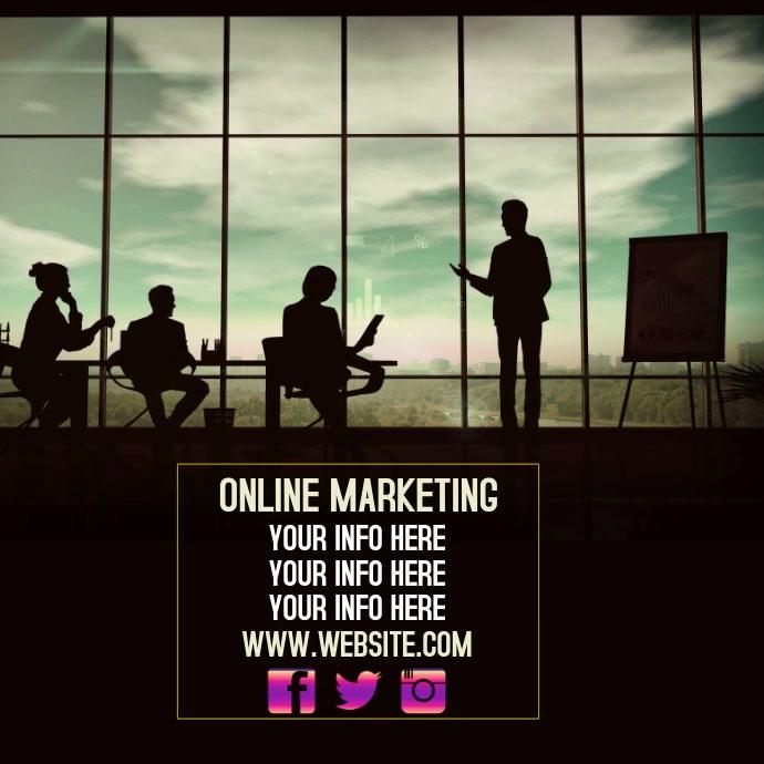 ONLINE MARKETING AD SOCIAL MEDIA DIGITAL 徽标 template