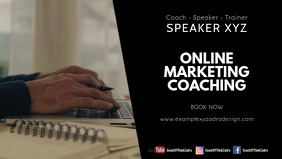 Online Marketing coaching workshop leadership Facebook-omslagvideo (16:9) template