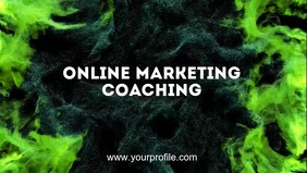 Online Marketing coaching workshop leadership Facebook Cover Video (16:9) template