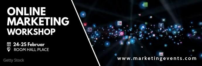 Online Marketing Social Media Network Header ส่วนหัวอีเมล template