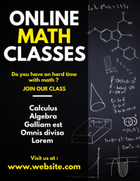 online math classes flyer template advertisem