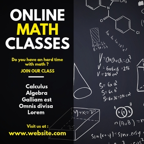online math classes Instagram post advertisem template