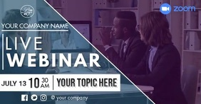 Online Meeting/ Conference Facebook Shared Image template