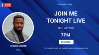 online meeting flyer Twitch Banner template