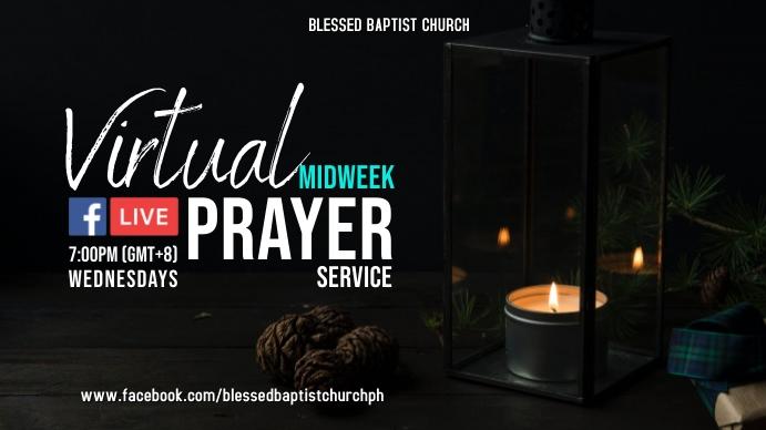 Online Midweek Prayer Digitalt display (16:9) template