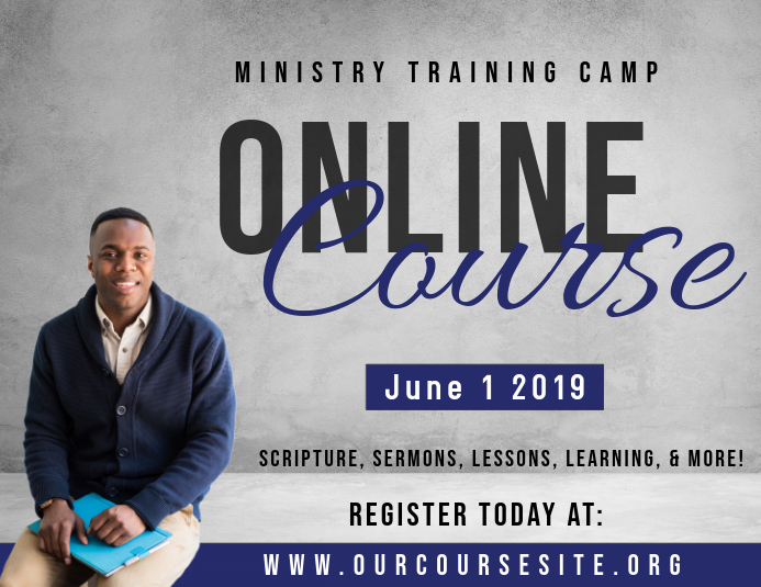 Online Ministry Course Pamflet (Letter AS) template