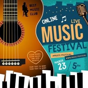 ONLINE MUSIC FESTIVAL INSTAGRAMM BANNER