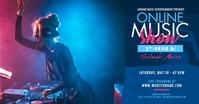 Online Music Show Ad Image partagée Facebook template
