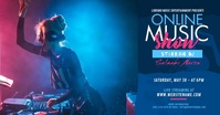 Online Music Show Ad Изображение, которым поделились на Facebook template