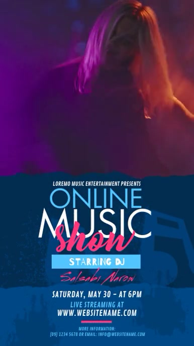 Online Music Show Ad Digital na Display (9:16) template