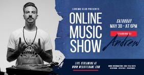 Online Music Show Facebook Shared Image Isithombe Esabiwe ku-Facebook template