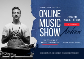 Online Music Show Postcard Cartolina template