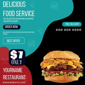 ONLINE ORDER TAKEAWAY social media TEMPLATE