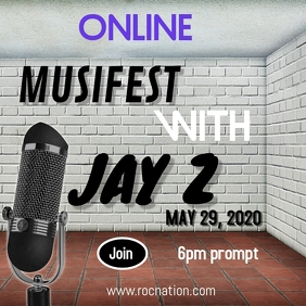 Online performance with Jay Z