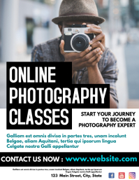 online photography classes flyer advertisemen