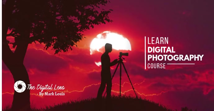 Online Photography course Facebook Ad template