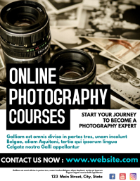 online photography courses flyer template