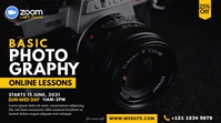 Online Photography Lessons Advert Twitter Post template