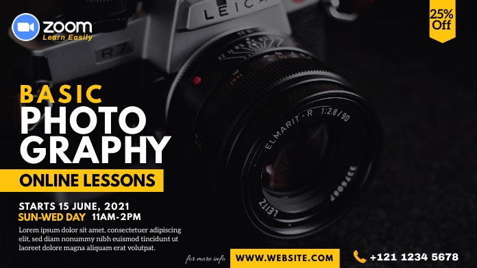 Online Photography Lessons Advert Pos Twitter template